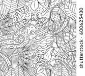 tracery seamless calming... | Shutterstock .eps vector #600625430