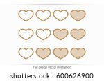 heart background | Shutterstock .eps vector #600626900