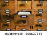 open old style wooden drawer...   Shutterstock . vector #600627968