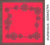 die cut card. laser cut vector... | Shutterstock .eps vector #600642794