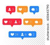 notifications vector icons... | Shutterstock .eps vector #600643790