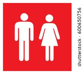 male and female sign  ... | Shutterstock .eps vector #600650756