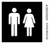 male and female sign  ... | Shutterstock .eps vector #600650819