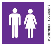 male and female sign  ... | Shutterstock .eps vector #600650843