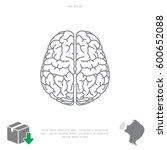 brain line icon | Shutterstock .eps vector #600652088