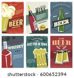 drinks posters set in retro... | Shutterstock .eps vector #600652394