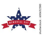 isolated memorial day label on... | Shutterstock .eps vector #600652580