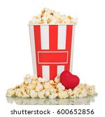 a large box full of popcorn ... | Shutterstock . vector #600652856