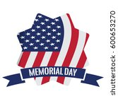 isolated memorial day label on... | Shutterstock .eps vector #600653270