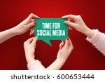 time for social media  business ... | Shutterstock . vector #600653444