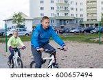Children Are Riding The Bikes...