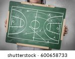 basketball play tactics... | Shutterstock . vector #600658733