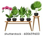 vector collection of indoor ... | Shutterstock .eps vector #600659603