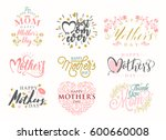 mother's day typographical... | Shutterstock .eps vector #600660008
