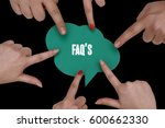 faq's  business concept | Shutterstock . vector #600662330