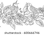 seamless border pattern in... | Shutterstock .eps vector #600666746