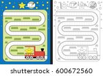 preschool worksheet for... | Shutterstock .eps vector #600672560