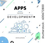 apps development  seo... | Shutterstock .eps vector #600672800