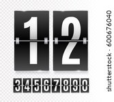 black countdown timer with... | Shutterstock .eps vector #600676040