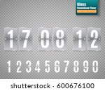 glass countdown timer isolated... | Shutterstock .eps vector #600676100