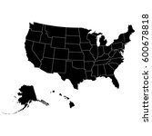territory of united states of... | Shutterstock .eps vector #600678818