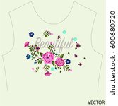 embroidery   Shutterstock .eps vector #600680720