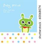 baby bunny arrival | Shutterstock .eps vector #60068074