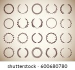collection of twenty circular... | Shutterstock .eps vector #600680780