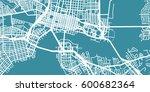 detailed vector map of... | Shutterstock .eps vector #600682364