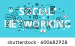 modern flat thin line design... | Shutterstock .eps vector #600682928