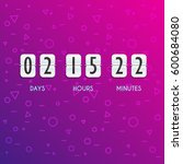 flip countdown timer vector... | Shutterstock .eps vector #600684080