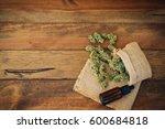 cannabis  | Shutterstock . vector #600684818