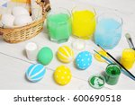close up of colorful easter... | Shutterstock . vector #600690518