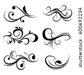 decorative monograms and... | Shutterstock .eps vector #600692234