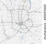 map columbus city. ohio roads | Shutterstock .eps vector #600692660