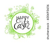 a vector easter card with... | Shutterstock .eps vector #600693656