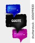 set of inflatable speech... | Shutterstock .eps vector #600699830