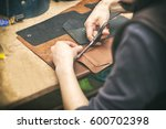 the young woman works with... | Shutterstock . vector #600702398