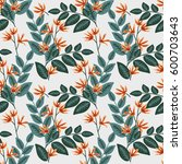 seamless pattern with... | Shutterstock .eps vector #600703643