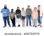 diverse people together... | Shutterstock . vector #600703970