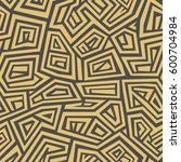 vector seamless pattern. modern ... | Shutterstock .eps vector #600704984