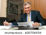 senior businessman in his office | Shutterstock . vector #600706934