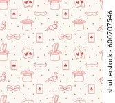 seamless pattern with magic... | Shutterstock .eps vector #600707546