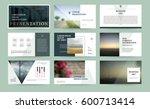 original presentation templates ... | Shutterstock .eps vector #600713414