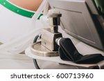equipment for breathing oxygen... | Shutterstock . vector #600713960
