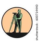 Surveyor In The Round Frame Logo