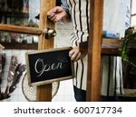 retail shop store sale open... | Shutterstock . vector #600717734