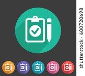clipboard checklist icon flat... | Shutterstock . vector #600720698