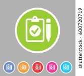 clipboard checklist icon flat...
