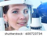checking eyesight in a clinic... | Shutterstock . vector #600723734